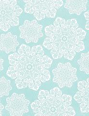 LETTER/STANDARD size JPG batik flower Snowflakes various sizes 350dpi