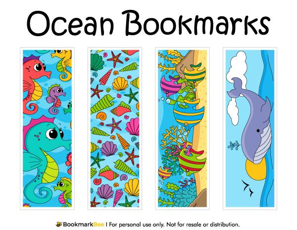 ocean bookmarks