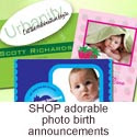 Shop birth announcements, baby announcement and photo birth announcements