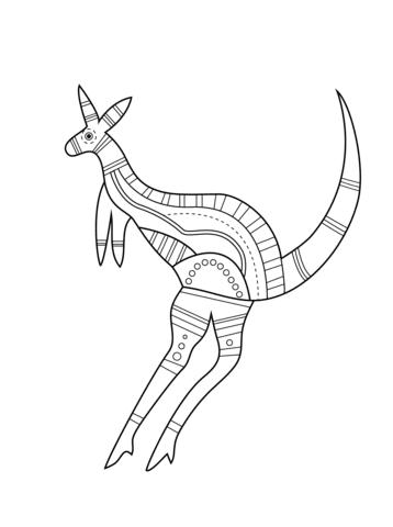 rasane sepoh kleine kangoeroe kleurplaat