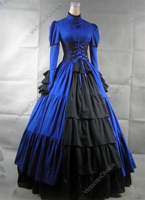 Victorian Gothic Period Corset Dress Gown Steampunk