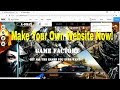 Make Your Own Website -Fast,Free and Without Coding