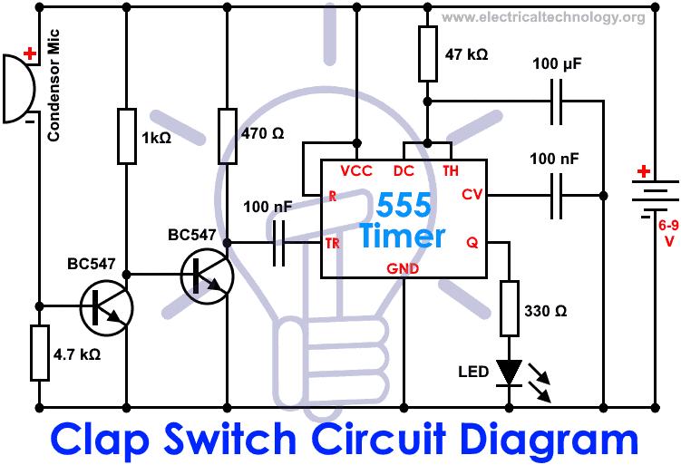 sound switch circuit diagram ne555 circuit diagram images Clap Switch Circuit Diagram Clap Switch Simple