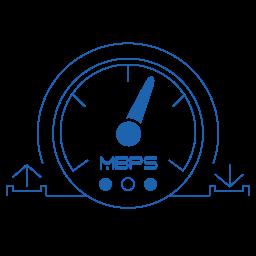 Broadband Speed Icon Quantum Computing