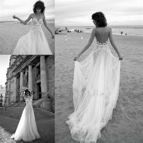elegant lace backless beach wedding dresses vintage