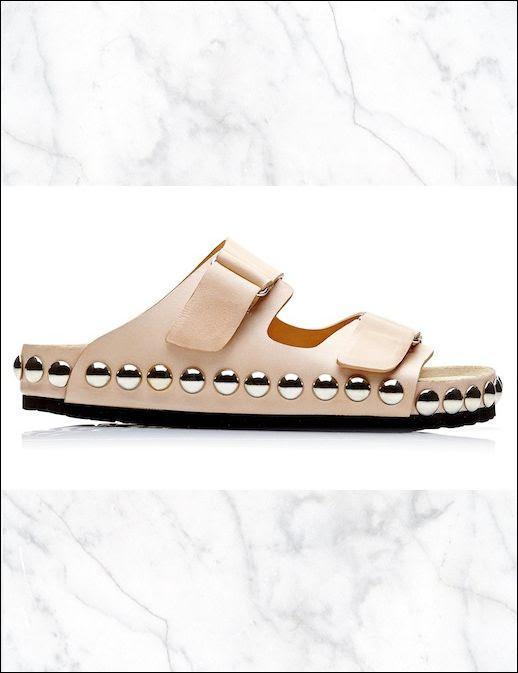 Le Fashion Blog Shoe Crush Giambattista Valli Studded Slide Sandals Birkenstock Inspired Style Grommet Embellished Studs Tan Nude Beige Black Leopard Print Colors Side View 2014 1 photo Le-Fashion-Blog-Shoe-Crush-Giambattista-Valli-Studded-Slide-Sandals-Birkenstock-Style-Side-View-1.jpg