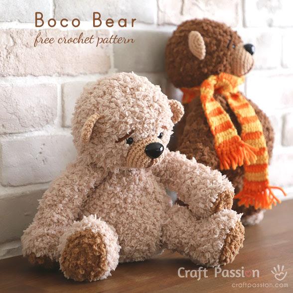 FREE PATTERN: Tiny Teddy Bear – Kristi Tullus | 588x588
