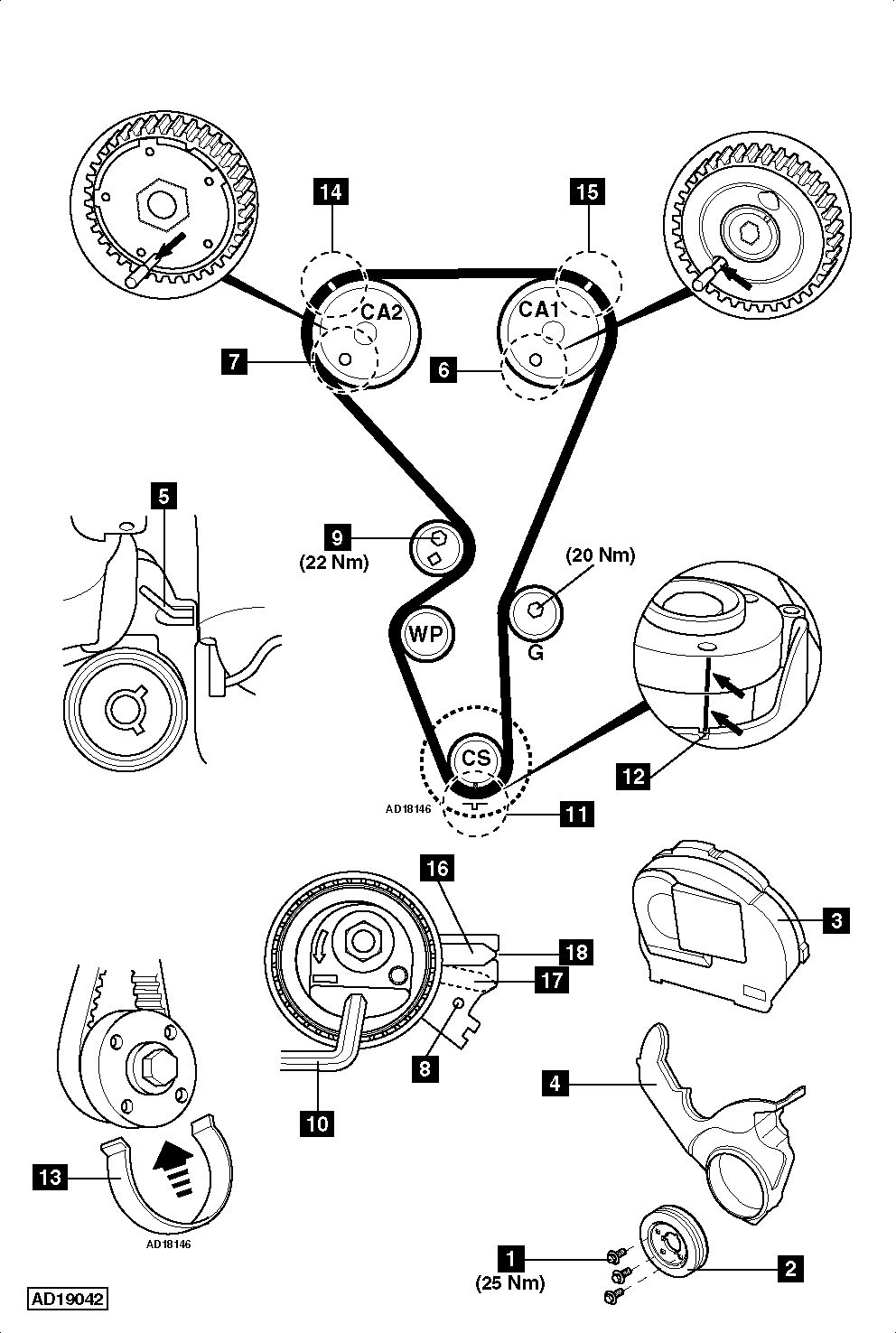 2005 Hyundai Elantra Belt Diagram
