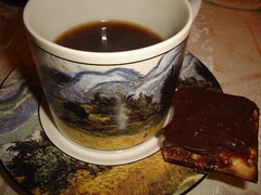 Coffee with Chocolate Toffee Matzoh