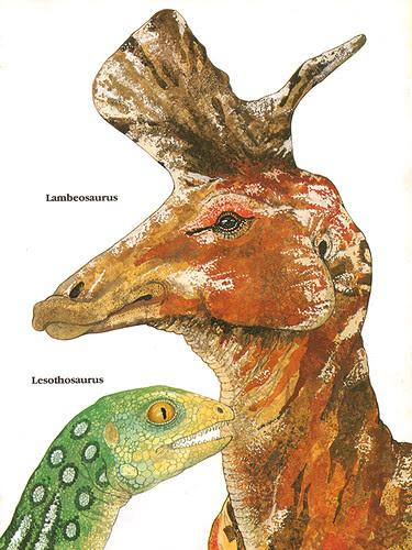 Lambeosaurus & Lesothosaurus