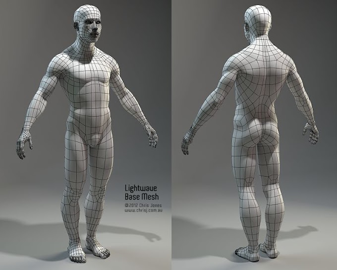 Reference, to create a person's model in 3d