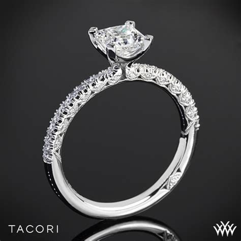 Tacori HT2545PR Classic Crescent Scalloped Millgrain for