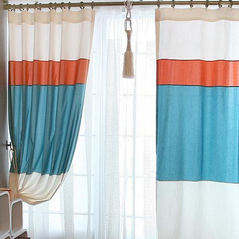 Modern 2013 Curtains for Living Room Made of Cotton (Two Panels ...
