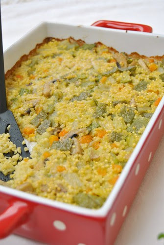 Millet and Vegetables au Gratin