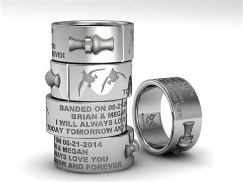 DuckBandBrand's custom wedding band, with 3D duck call