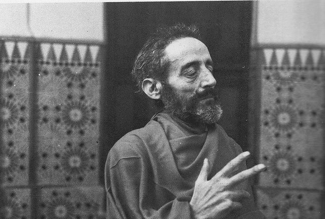 Demente del Hospital del Nuncio (Toledo) caracterizado como un personaje de El Greco en 1955. Fotografía Rodríguez
