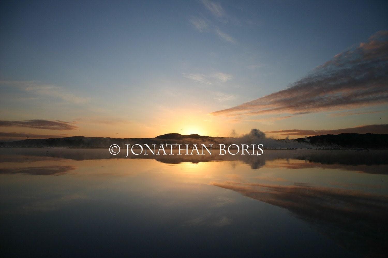 Sunset at Lake Rotorua, New Zealand- 8x10 Print