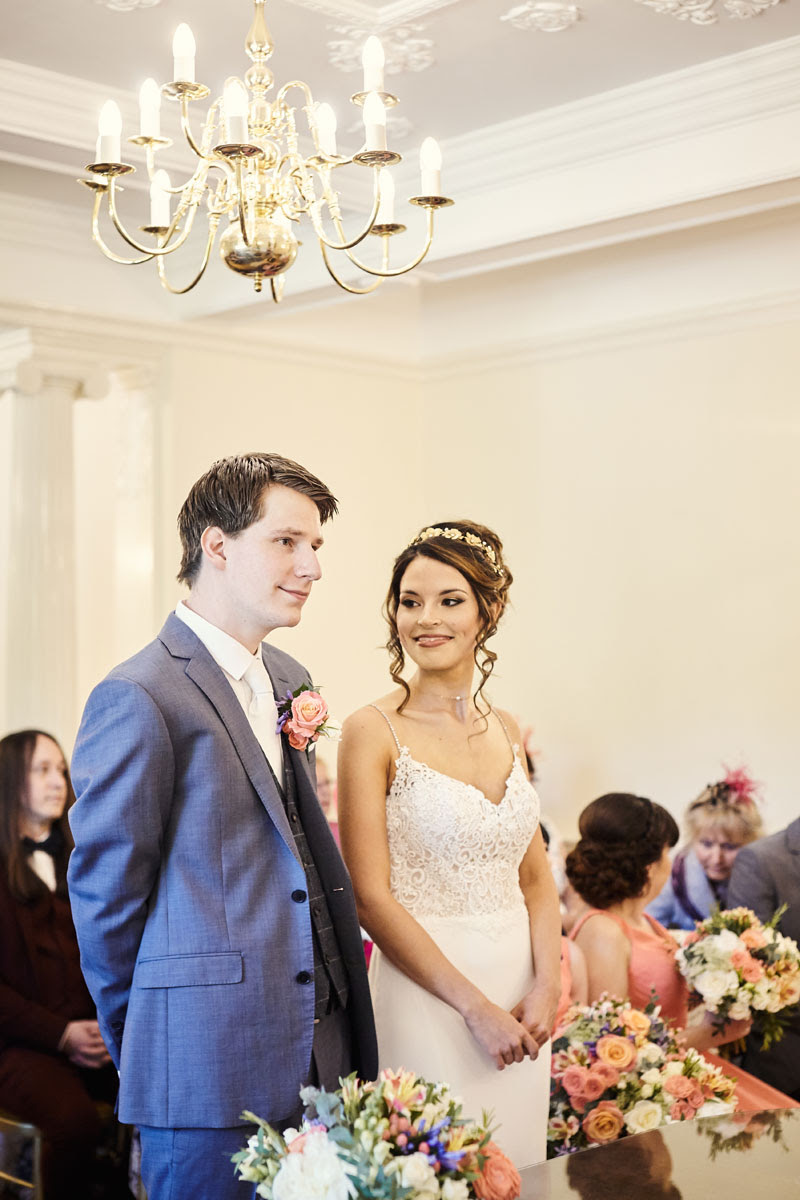 Wedding ceremony held at Lanwades Hall Wedding Photos - helloromancephotography.com