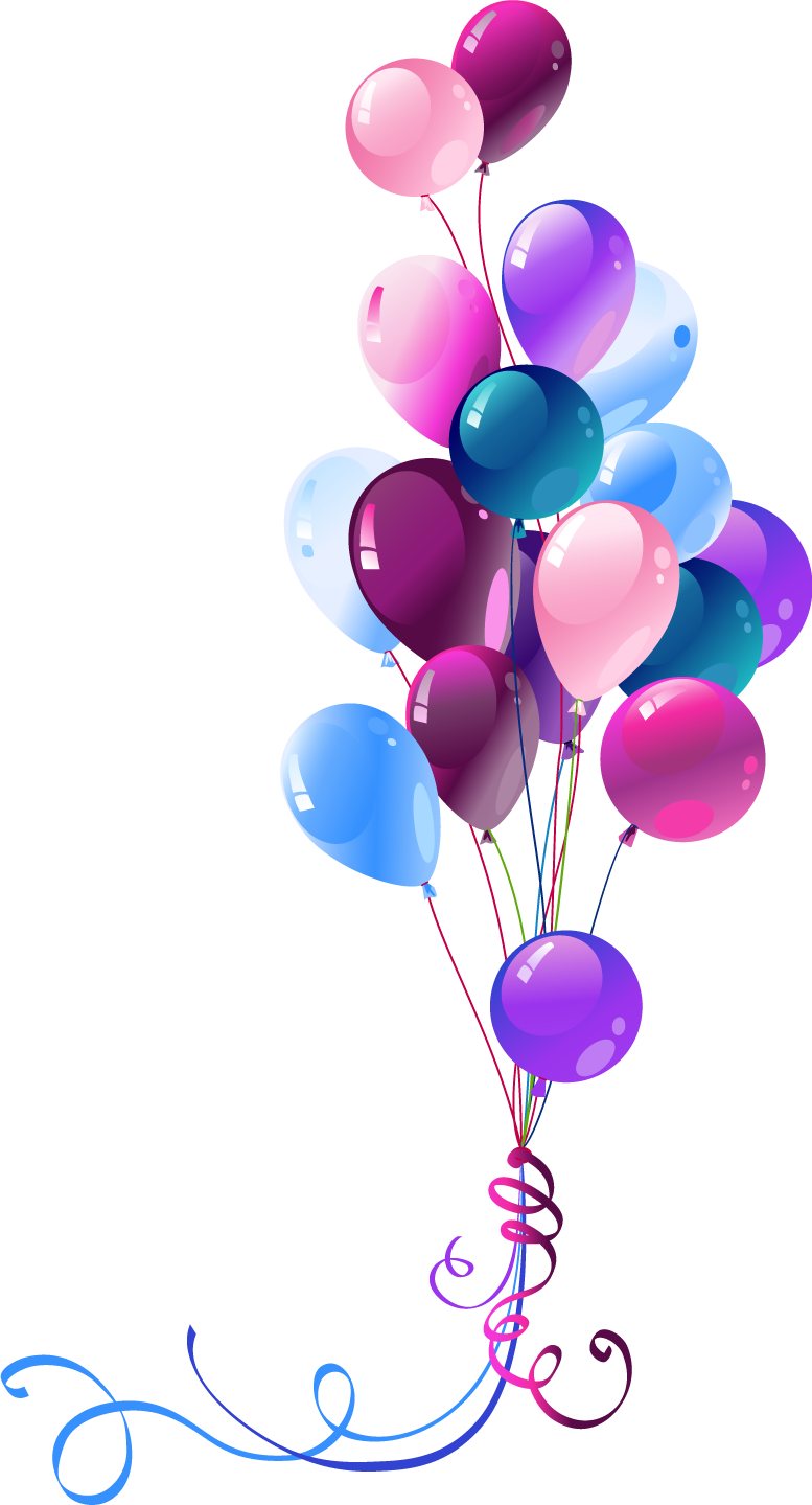 22 Clip Art Transparent Background Birthday Balloons Png