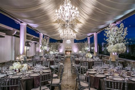 luxe purple white  silver reception