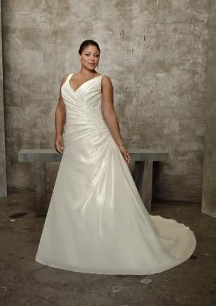 plus-size bridal gown
