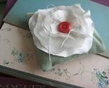 Silk Bloom Mini Ring Pillow