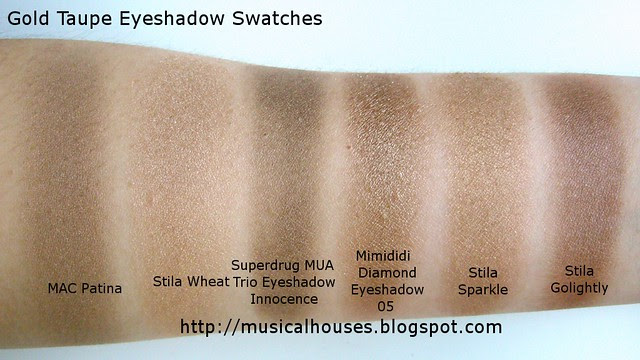 gold taupe eyeshadow swatches