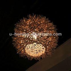 Nature Rattan Lamp 2013 Hand Made Paper Plastic Lamp Shade - Buy ...