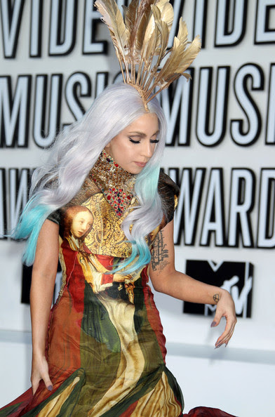 Lady Gaga  Celebrities arrive at the 2010 MTV Video Music Awards at the Nokia  Theatre in L.A. Live in Los Angeles.