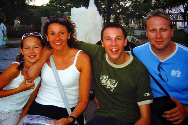 Haganah ,Odette, Matthew and Paul in Boston USA on a family holiday