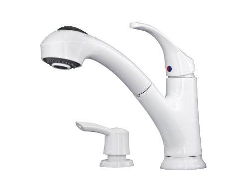 Pfister F Wkp 701w White Shelton Pullout Spray Kitchen Faucet