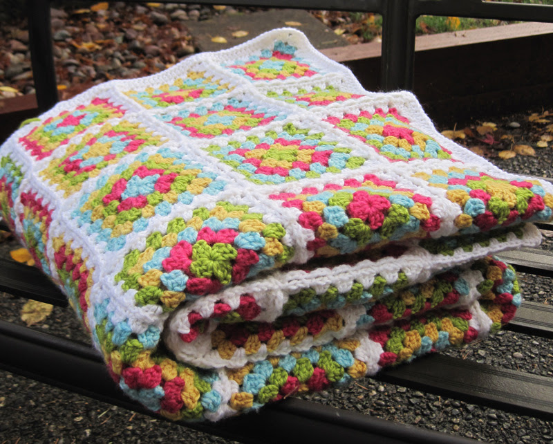 Granny Square Afghan