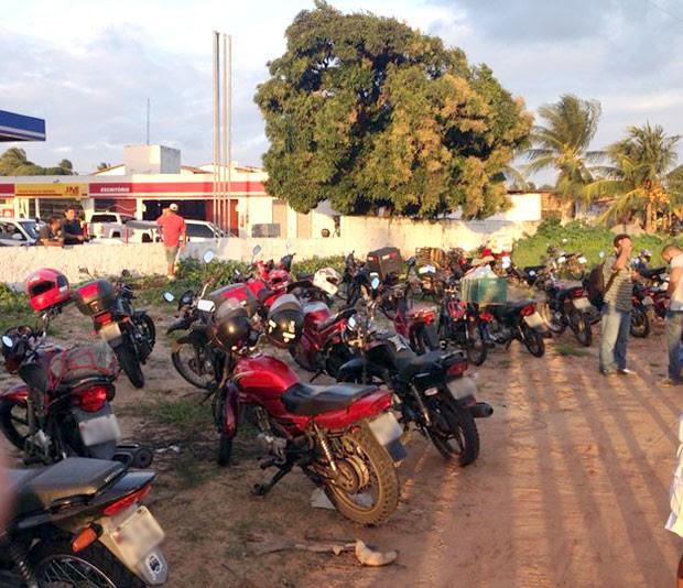As motocicletas apreendidas foram levadas para o Departamento Estadual de Trânsito do RN (Foto: Emmily Virgílio/Inter TV Cabugi)