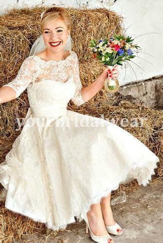 uk   vintage lace short wedding dress long sleeve