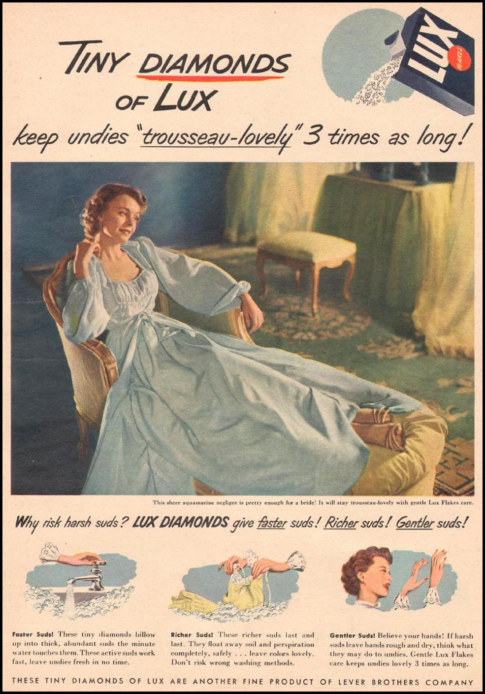 LUX SOAP WOMAN'S DAY 09/01/1949 p. 13