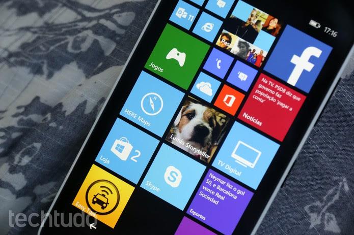Tela do Lumia 640 (Foto: Lucas Mendes/TechTudo)