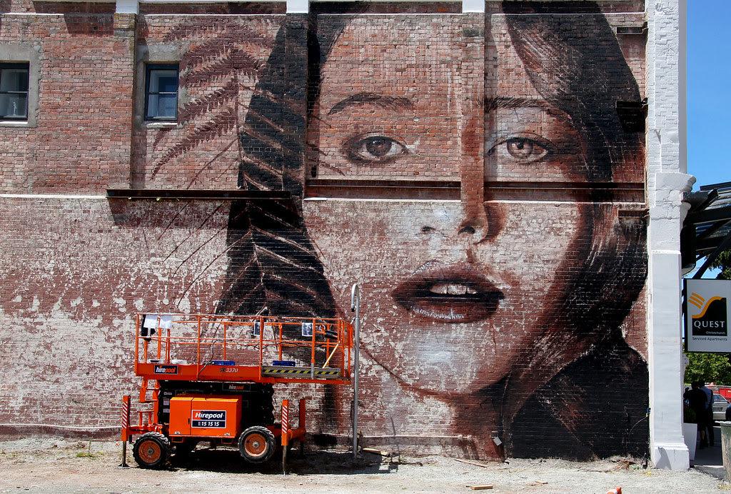 Girl On A Brick Wall Australian Street Artist Rone Is