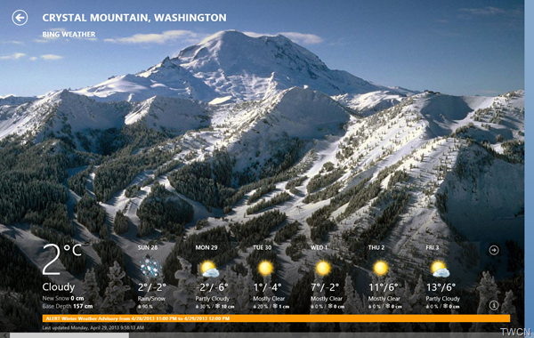 Bingweather06 Bing Weather App for Windows 8 updated
