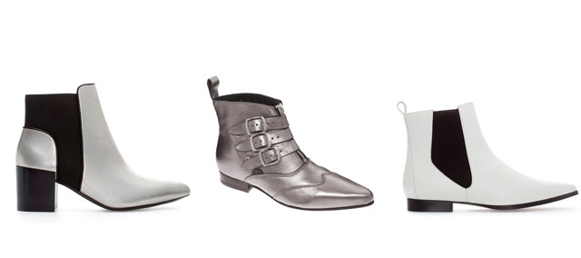 silver white metallic boots asos zara Underground Blitz Pewter Winklepicker Ankle Boots fall winter 2013 2014 inspiration wish list wanted turn it inside out fashion blogger belgium