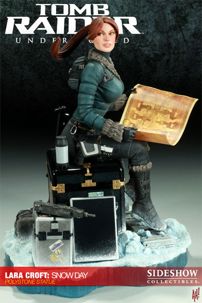 Lara Croft Snow Day Statue from Sideshow Collectibles