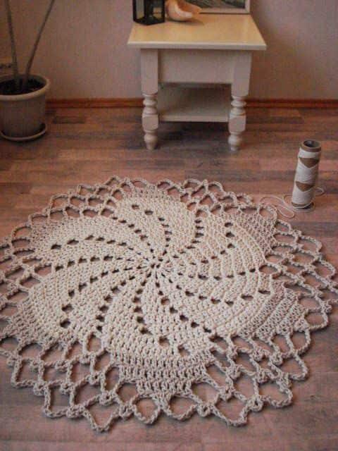 quero ver tapete de crochê