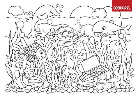 ausmalbilder tiere unter wasser - kostenlose malvorlagen ideen