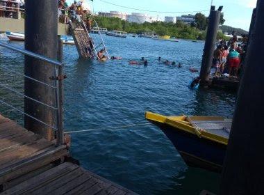 Ponte de passageiros desaba em Madre de Deus e gera pânico