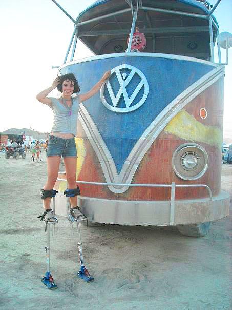 Gigantesca Kombi no Burning Man