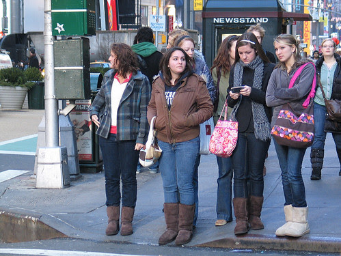 Uggs near Times Square