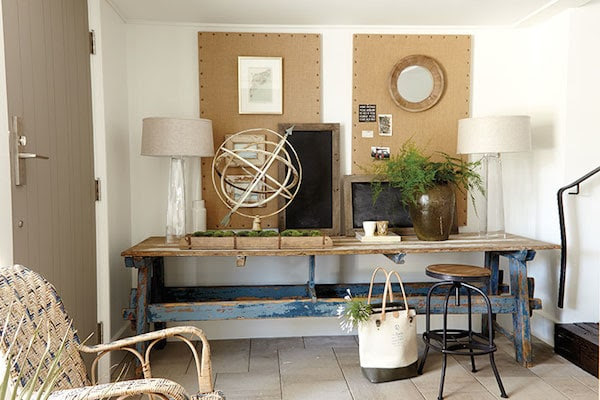 Southern Living Idea House Burlap Bulletin Boards