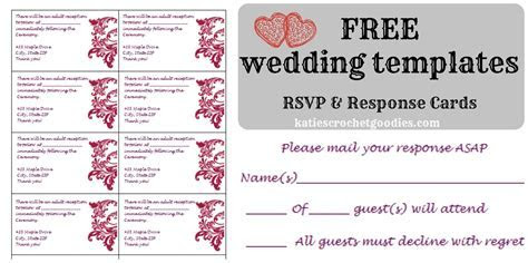 Free Wedding Templates: RSVP & Reception Cards   Katie's