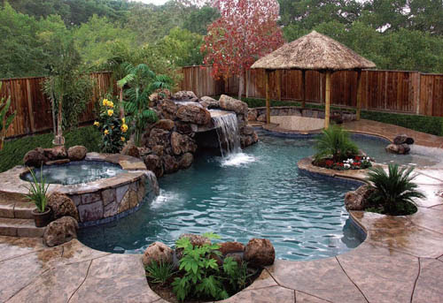 Unique Swimming Pools Back Yard