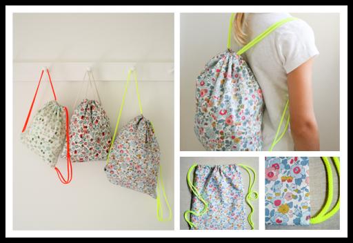 How To Sew Diy Drawstring Backpack Diy Tag