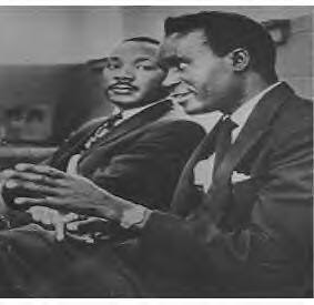 Kenneth Kaunda and Martin Luther King making a joint statement against US investment in South Africa at the UN in 1965. Kaunda was the former leader of the United National Independence Party which led Zambia to independence. by Pan-African News Wire File Photos